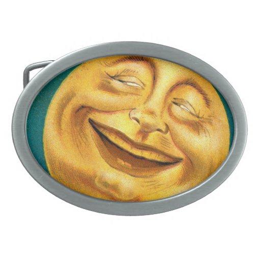 Halloween Moon Oval Belt Buckle