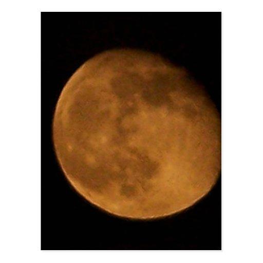 halloween moon postcard