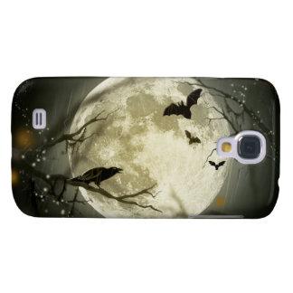 Halloween Moon Spooky Crows Samsung Galaxy S4 Case