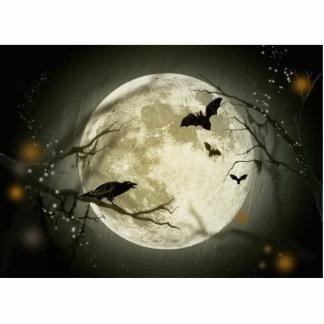 Halloween Moon Spooky Crows Statuette