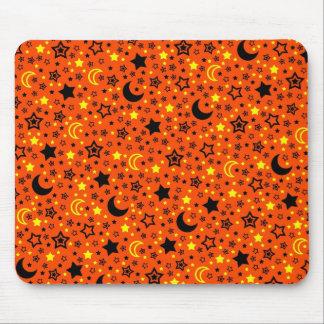 Halloween Moon & Stars Mouse Pad