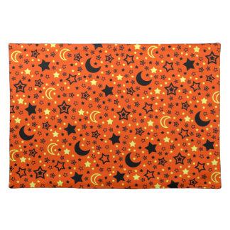 Halloween Moon & Stars Placemats