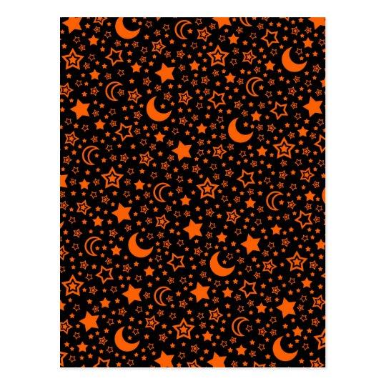 Halloween Moon & Stars Postcard
