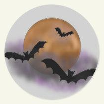 Halloween Moon sticker