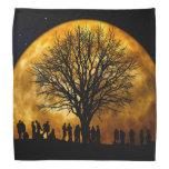 Halloween moon - zombie tree - moon tree bandana