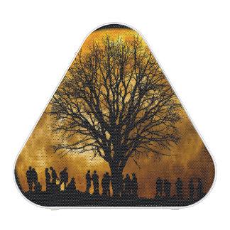 Halloween moon - zombie tree - moon tree bluetooth speaker