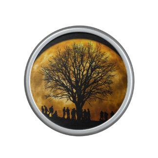 Halloween moon - zombie tree - moon tree speaker
