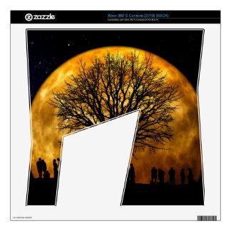 Halloween moon - zombie tree - moon tree xbox 360 s console skins
