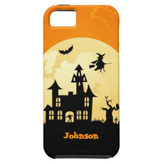 Halloween Moonlight Haunted House in Graveyard iPhone 5 Cases
