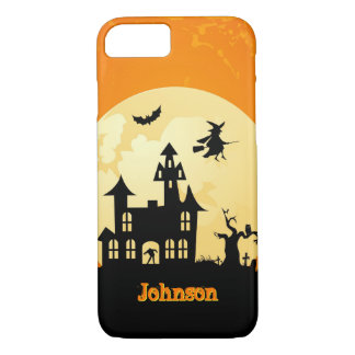 Halloween Moonlight Haunted House in Graveyard iPhone 8/7 Case