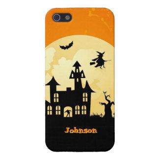 Halloween Moonlight Haunted House in Graveyard iPhone 5/5S Case