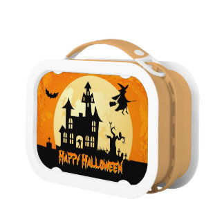 Halloween Moonlight Scary Haunted House Graveyard Lunch Box