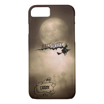 Halloween Themed Halloween Moonlight Witch Ghost Graveyard Custom iPhone 7 Case