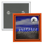 Halloween Moonlit Party Scene 2 Inch Square Button