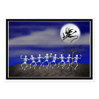 Halloween Moonlit Party Scene Business Card Template