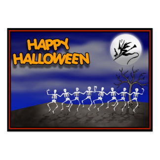 Halloween Moonlit Party Scene Large Business Card