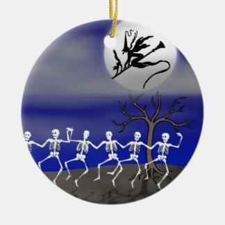 Halloween Moonlit Party Scene Christmas Ornament