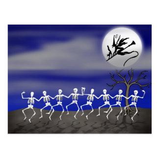Halloween Moonlit Party Scene Postcard