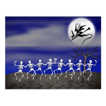 Fall_Seasons_Best Halloween Moonlit Party Scene Postcard