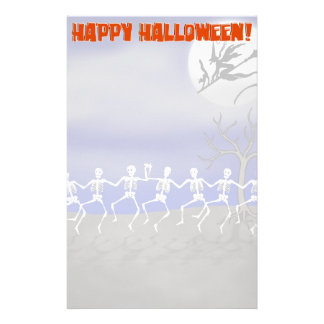 Halloween Moonlit Party Scene Stationery