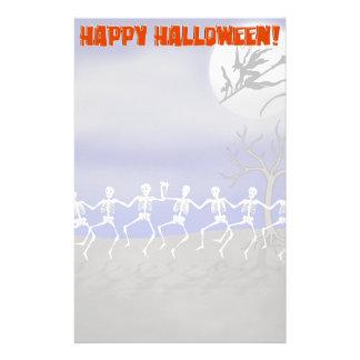Halloween Moonlit Party Scene Stationery