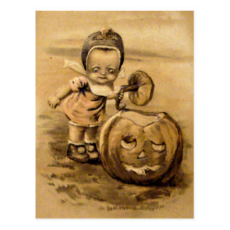 Halloween Morning (Vintage Halloween Card) Postcard