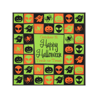 Halloween mosaic canvas print