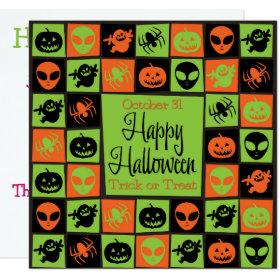 Halloween mosaic invitation