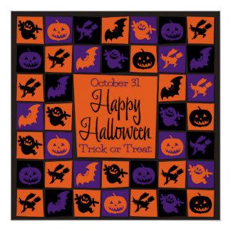 Halloween mosaic poster