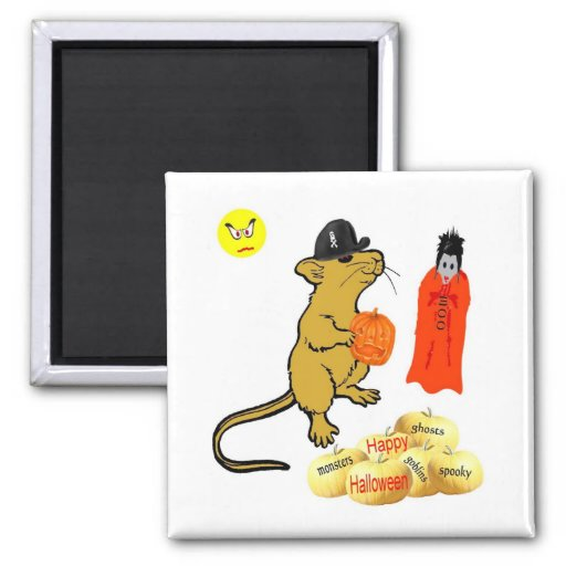 Halloween Mouse Magnet