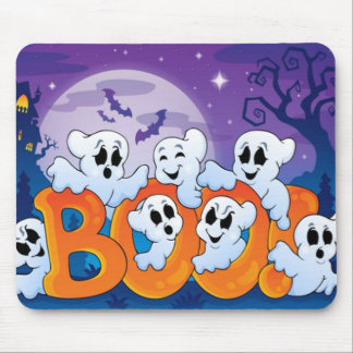 Halloween Mouse pad/Haunted Scene Mouse Pad