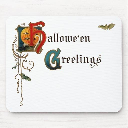 Halloween Mousepad de saludo Alfombrillas De Ratones