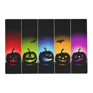 Halloween multicolor Placemats laminado calabaza Tapete Individual