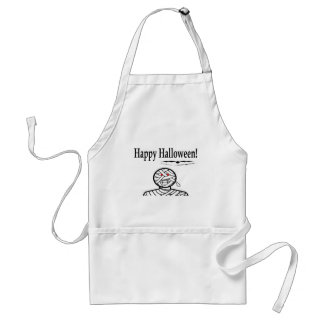 Halloween Mummy And Bats Adult Apron