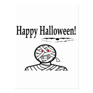 Halloween Mummy And Bats Postcards