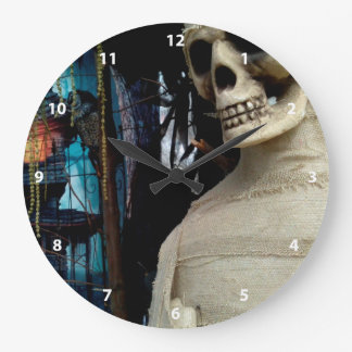 Halloween Mummy and Spooky House Large Clock
