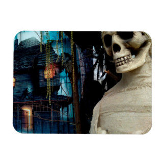 Halloween Mummy and Spooky House Magnet
