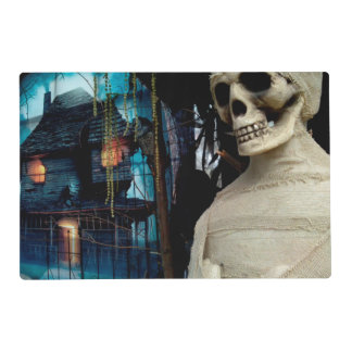 Halloween Mummy and Spooky House Placemat