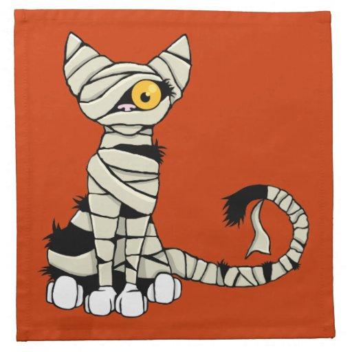 Halloween mummy cat napkin zazzle for Halloween cloth napkins