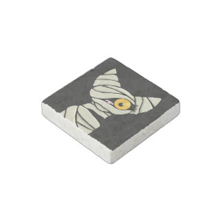 Halloween Mummy Cat Stone Magnet