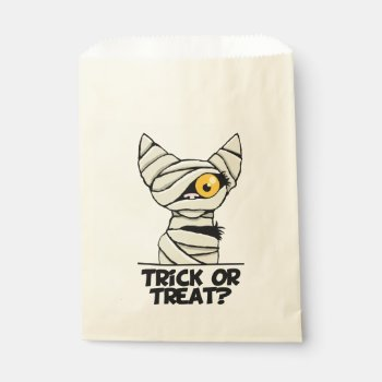 Halloween Mummy Cat Trick or Treat Favor Bags