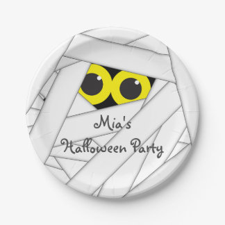 Halloween Mummy Costume Party Cute Kids Plates