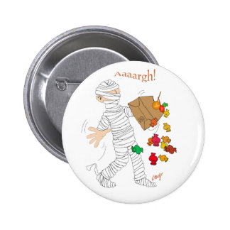 Halloween mummy  costume with candy bag. button