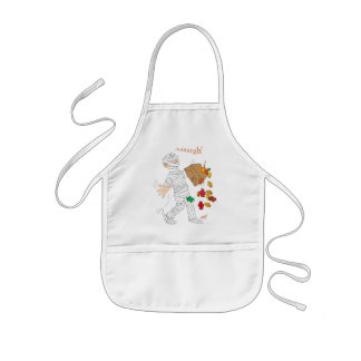 Halloween mummy  costume with candy bag. kids' apron