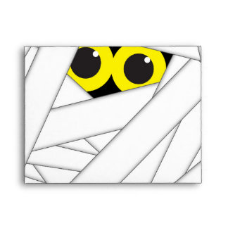 Halloween Mummy Cute Party Invitation Envelope