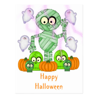 Halloween Mummy Ghost Postcards
