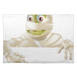 Halloween Mummy Pointing Down Place Mats