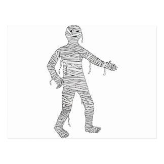Halloween mummy post card