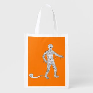Halloween Mummy Trick or Treat Reusable Bag Grocery Bags