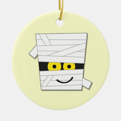 Halloween Mummy Tshirts and Gifts Christmas Ornaments